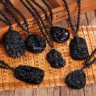 Buy Unique Black Obsidian Carved Buddha Lucky Amulet Pendant Necklace For Women Men Sakyamuni Buddh
