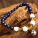 Buy Vintage Tibetan silver Women Charm Blue Lapis Lazulie Bracelets  Bangle 6mm Beads Bracelets for