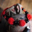 Buy Wholesale Fashion Original Design Red line Dahlia Black Bead Lacquer Carving Bracelets Woman Ha