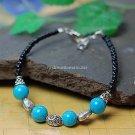 Buy Wholesale Blue Coral Bead Heart Tibetan silver Shambhala Personality Bracelets Women Handmade G