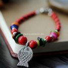Buy Wholesale Charm Shambhala Jewelery Tibetan silver Red Coral Shell Love Fish Bracelets Women Bes