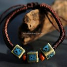 Buy Wholesale China Wind Jewelery Geometry Ceramics Bead Weave Bracelets Women Gift Handmade Charm