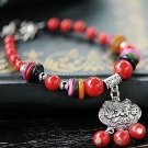 Buy Wholesale Fashion Charm Natural Red Coral Beads Bracelet for Women Transport Shell Tibetan silv