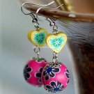 Buy Wholesale Refinement Fimo Candy colors Heart Bead Alloy Earring Women Handmade Gift Creative Ch