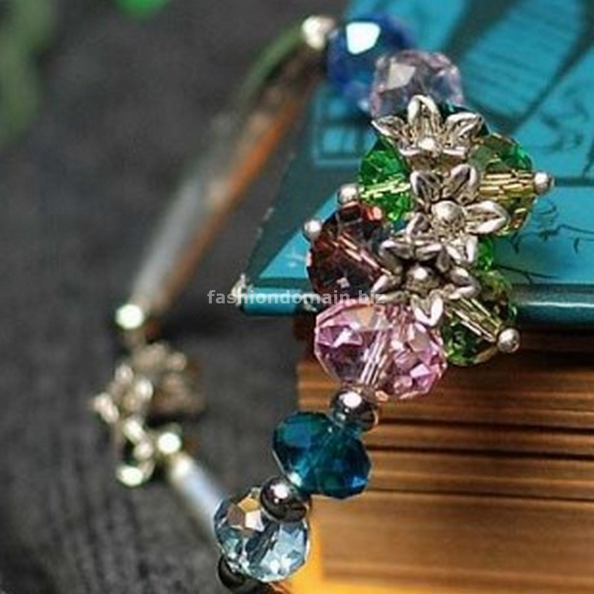 Buy Wholesale Shambhala Jewelery Temperament Handmade Tibetan silver Crystal Colorful Flowers Brace