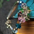 Buy Wholesale Shambhala Jewelery Temperament Handmade Tibetan silver Crystal Colorful Flowers Brace