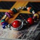 Buy Wholesale Tibetan Charm Alloy Natural Red Coral Beads Gravel Shambhala Bracelets Women Gift Han