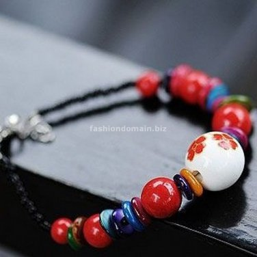 Buy Wholesale Tibetan Charm Ceramics Natural Coral Beads Shambhala Bracelets Women Gift Handmade Na