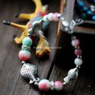 Buy Wholesale Tibetan Jewelery Fashion Women Natural Apple Stone Beads Bracelets Tibetan silver Rhi