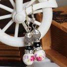 Buy Wholesale Tibetan Jewelery Ceramics Bead Pendant Rhinestone Tibetan silver Earring Women Fashio
