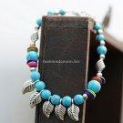 Buy Wholesale Tibetan Jewelery Natural Blue Turquoise Beads Tibetan silver Shell Shambhala Bracelet
