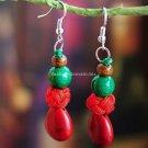 Buy Wholesale Tibetan Jewelery Red Coral Water Drop Beads Pendant Earring Women Gift Handmade Fashi