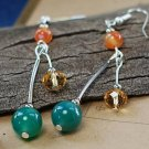 Buy Wholesale Trendy Jewelery High Quality Section Crystal Agate Turquoise Earring Women Green  Red