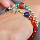 Buy 2 pscLot Fashion Nation style Bracelets for Women lapis lazuli Turquoise Agate Red Beads Woman