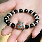 Buy  Fashion Summer New Tibetan Jewelry Original Black Woman Bracelet Onxy 8mm Beads Bracelets for