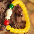 Buy   New Hot Summer High quality Yellow agate Bracelets  bangle for Women Fashion 7MM Beads Vintag
