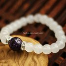 Buy  New Summer High quality Amethyst Natural White Chalcedony Bracelets  bangle for Women Fashion