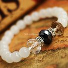 Buy  New Summer High quality Crystal Natural White Chalcedony Bracelets  bangle for Women Fashion 7