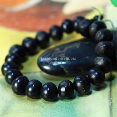 Buy Fashion Natural Bodhi 8mm Black Beads Bracelet  Bangle for Women and Men Buddhist Prayer Beads