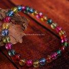 Buy High Quality Fashion Hot Color Crystal Bracelets  bangle 6mm Beads Charm Bracelet Elastic for W
