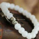 Buy Hot Sale White Crystal Rhinestone Bracelets  bangle 7mm Beads Charm Bracelet Elastic for Women