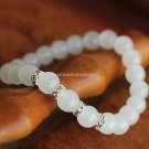 Buy Hot White Crystal Austrian Rhinestone Bracelets  bangle Simple 8mm Beads Charm Bracelet Elastic
