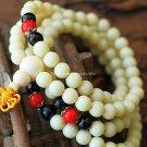 Buy Lovely! New Fashion Hot 108 Men and Women stretch Bracelet 8mm Beads unisex Charm Bangle 2 Colo
