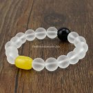 Buy New Arrival Natural Matte Clear Crystal Bracelet, 11mm Beads Bracelets,Agate Stone Beads,Womens