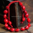 Buy New! ! Wholesale Tibetan Red Natural Silk Weave Bracelets Women Gift Handmade Lucky Fashion Eth