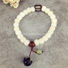 Buy Oriental Natural Plant Seed White Bodhi Beads Elastic String Buddhist Mala Bracelet Women Pray