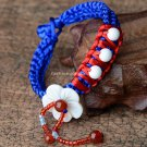 Buy Fashion Shell Flower Bracelets Bue Silk Weave Pulseras Bangle for Women from Reliable jewelry h