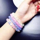 Buy Stretch 8MM Color Crystal Beads Natural Stone Quartz Fluorite  Bracelet for Women  Christmas Gi