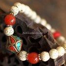 Buy Vintage Tibetan silver Women Charm Natural bodhi Bracelets  Bangle 7mm Beads Bracelets for Wome