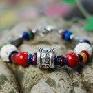 Buy Wholesale Color Tibetan silver Bone beads Shell pieces Shambhala Lucky Bracelets Women Religion