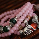 Buy Wholesale Fashion New Rose Quartz Transport Acrylic Beads Amulets Tibetan silver Elephant God M