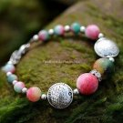 Buy Wholesale High Quality Tibetan silver Rhinestone Pisces Apple Stone Bead Bracelets Women Gift F