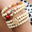 Buy Wholesale White Tridacna Resin Crystal Gilding Amulets Pendant Multilayer Bracelets Women Gift