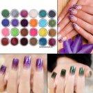 24Bottles Nail Glitter Powder Holographic Set Nail Art Tip UV Gel Decoration Manicure Kit Nail DIY