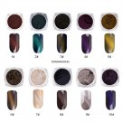 3D Mirror Chrome Nail Art Glitter Polish Powder Shine Sponge Stick Chameleon Nail Dust Powder Manic