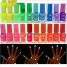 19 Candy Colors Glow The Dark Luminous Fluorescent Nail Art Polish Enamel Beauty