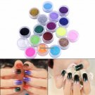 18 Colors Nail Glitter Powder Pots Sugar Holographic Nail Gel DIY Design Shiny Dust Powder Manicure