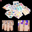 50 Sheets Full Wrap Flowers Nail Art Water Transfer Stickers Manicure Decals Decoration  arrive