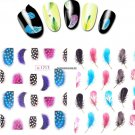 Clearance Lady Women Leopard Water Transfer Stickers Nail Art Tips Feather Decals Nail Art Tools