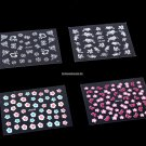 10 Sheets Nail Art Sticker 3D Flower Designs Nail Decal Sticker Self Adhesive DIY Nail Art Tips Man