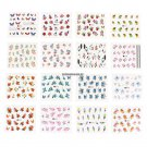 50 SheetsSet 5x6.5cm Mixed Flower Water Transfer Nail Stickers Decals Art Tips Decoration Manicure