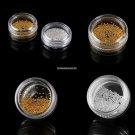 1mm Golden Silver Metallic Beads Studs Nail Art Glitter Nail Decoration Makeup Beauty Nagel Strass