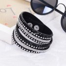 Hot Selling   Women's Red Fashion Leather Bracelets For women Christmas Gifts  Year 18 Color Choic