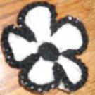 crocheted flower hair clip