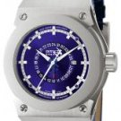 Invicta Men's Akula GMT Blue Dial Blue Leather.