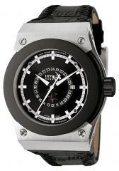 Invicta Men's Akula GMT Black Dial Black Leather.